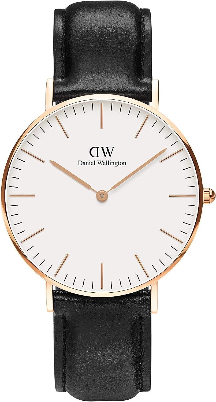 Daniel Wellington Classic Sheffield Max Don't miss the campaign 74% OFF Leather Watch Italian Black