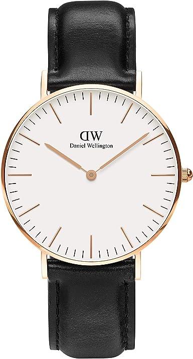 Amazon.com: Daniel Wellington Classic Sheffield Watch, Italian Black  Leather Band : Daniel Wellington: Clothing, Shoes & Jewelry