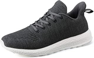Mens Walking Shoes Fashion Sneaker-Breathable Mesh Lace-Up Lightweight Non Slip for Casual Tennis Volleyball Running