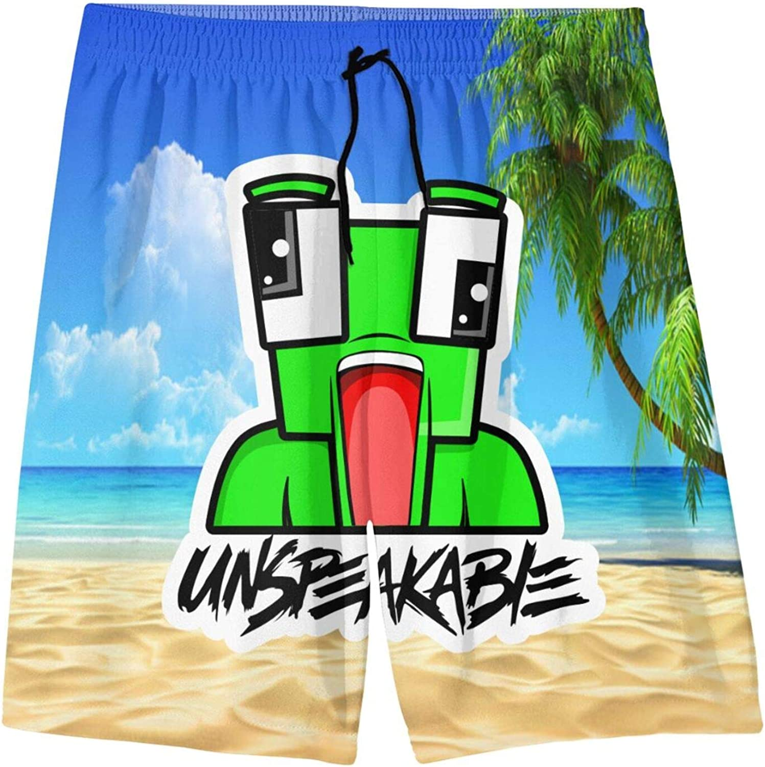 TANBAK Men's Swim Trunks Beach Board Shorts Swimsuits Elastic Waist with Pockets Printed Quick Dry Casual : Clothing, Shoes & Jewelry