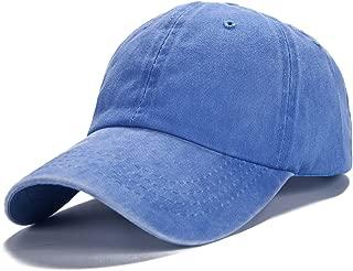 Men Women Plain Cotton Adjustable Washed Twill Low Profile Baseball Cap Hat(A1008)