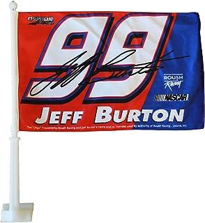 Jeff Burton (Red/Blue) - Nascar Car Flag