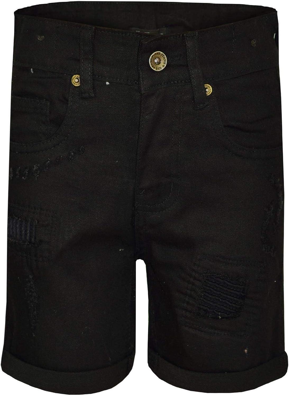 A2Z Kids Boys Shorts Denim Ripped Light Blue Chino Bermuda Jeans Short Knee Length