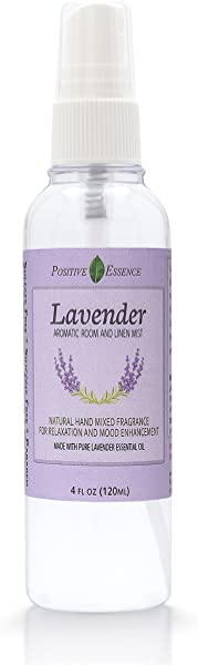 Positive Essence Lavender Linen And Room Spray Natural Aromatic Mist Made With Pure Lavender Essential Oil Relax Your Body Mind Perfect As A Toilet Spray Air Freshener Pillow Mist