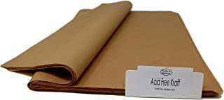 """Kraft - 96 Sheets - Acid-free Wrapping Tissue Paper 15"""" x 20"""" - Made in United States by Colors of Rainbow®"""