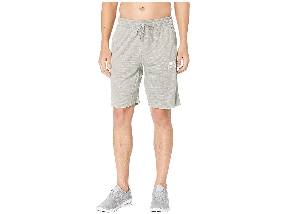 Nike SB SB Dry Sunday Crafty Shorts (Dark Grey Heather/Pink Tint) Men