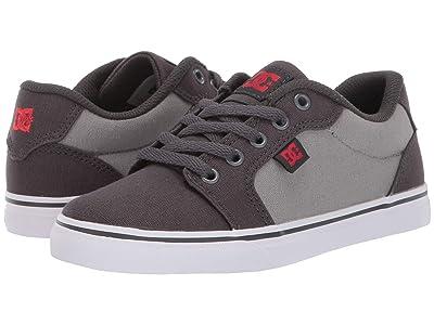 DC Kids Anvil TX (Little Kid/Big Kid) (Grey/Grey/Red) Boys Shoes