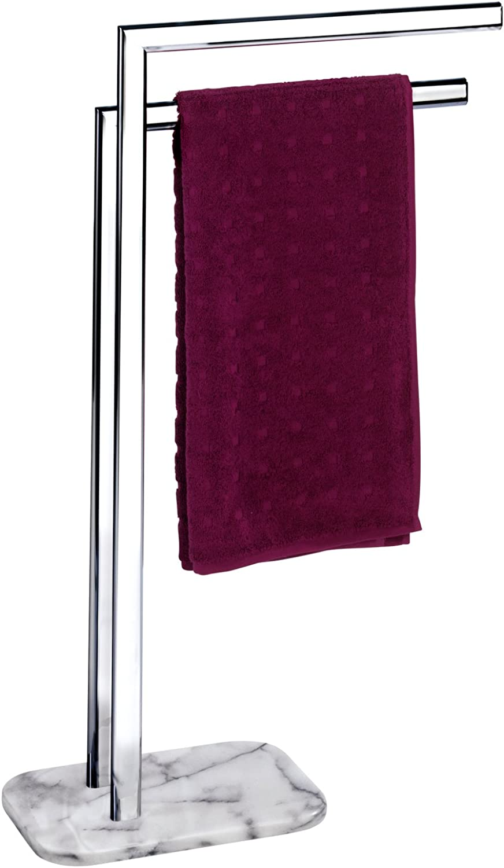 Wenko 22506100 Handtuchständer Albero Onyx - Kleiderständer, Standhandtuchhalter, Stahl, 48 x 81,5 x 19,5 cm, Chrom B06XXCJLRF