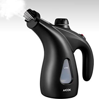AICOK Steamer for Clothes, 950W Garment Steamer, 200ml Portable Handheld Fabric Steamer for Travel and Home, 40s Fast Heat-up, with Pouch and Brush, Black