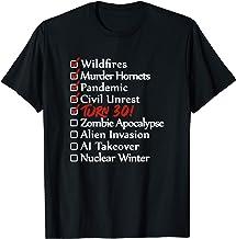 Funny 30th Birthday Gift I 30 Years I 1990 2020 I Quarantine T-Shirt