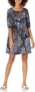 Star Vixen Womens Women's Blouson Peasant Dress