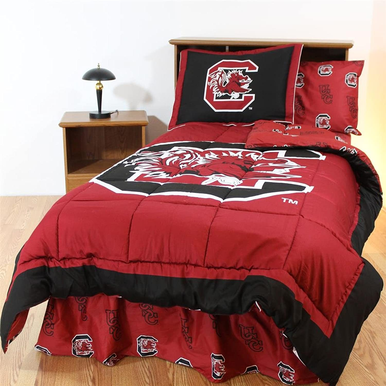South Carolina Gamecocks Bed in a Bag King  with Team colord Sheets