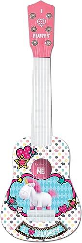 Lexibook Universal Moi, Moche et Méchant 3 Agnès & Fluffy Ma première guitare, 6 cordes en nylon, 53 cm, guide inclus...