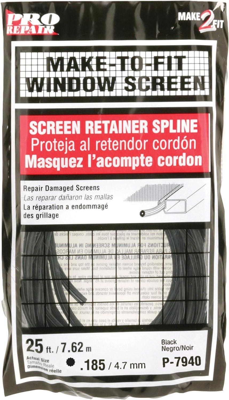 Prime-Line Products P 7940 Screen Retainer Spline, .185-in, 25-ft, Black