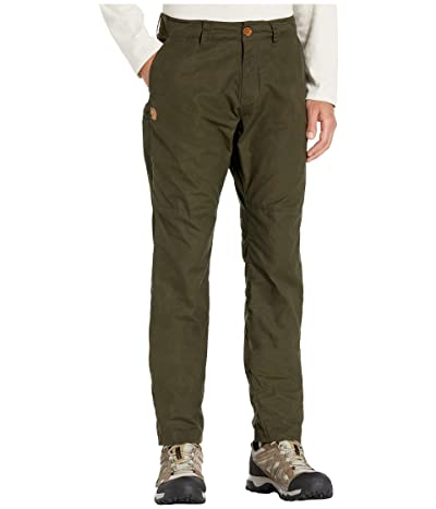 Fjallraven Sormland Tapered Trousers (Deep Forest) Men