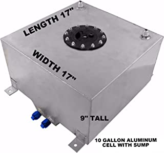 Aluminum Racing Fuel Cell 10 Gallon with Sump, Aircraft Cap, Foam Included RACERDIRECT