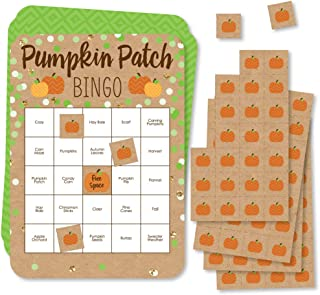 Big Dot of Happiness Pumpkin Patch - Bingo Cards and Markers - Fall or Halloween Party Bingo Game - Set of 18