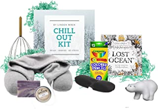 Anxiety Management | Self Care Kit | Chill Out Gift Set | Relieve Stress and Anxiety | Relaxation Help | De-Stress Calming Relief Toys | Unique Gifts for Adults (Chill Out Kit)