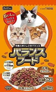 (まとめ買い)ペットプロ バランスフードお魚ミックス味 5kg 猫用 【×3】