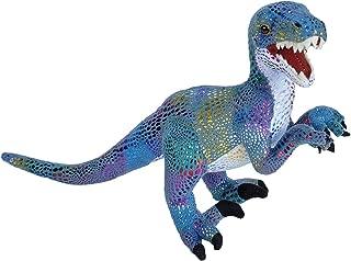 Wild Republic Glitter Dinosaurs, Velociraptor Plush Stuffed Animal Toy Gifts for Kids, 14 Inch