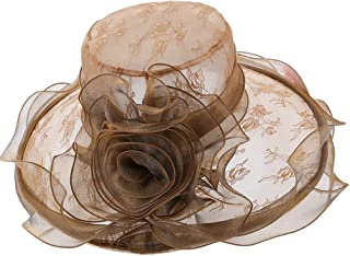 YiyiLai Wave Large Brim Folding Church Kentucky Derby Wedding Hat Tea Party Cap