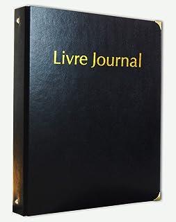 Classeur Registre - Livre Journal en simili cuir avec Recharge 100 feuillets unis et numérotés
