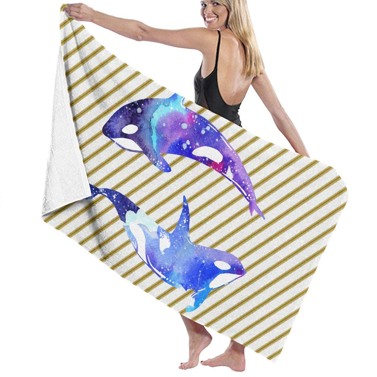 Xcvgcxcvasda Beach Bath Towel Orca Killer Whale Prints Bath Towel Wrap Spa Shower And Wrap Towels Swimming Bathrobe Cover Up For Ladies Girls White Buy Online In Dominica At Dominica Desertcart Com Productid