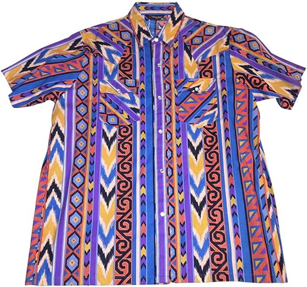 1X Big and Tall Southwestern Color Western Shirt Made in USA 1XB