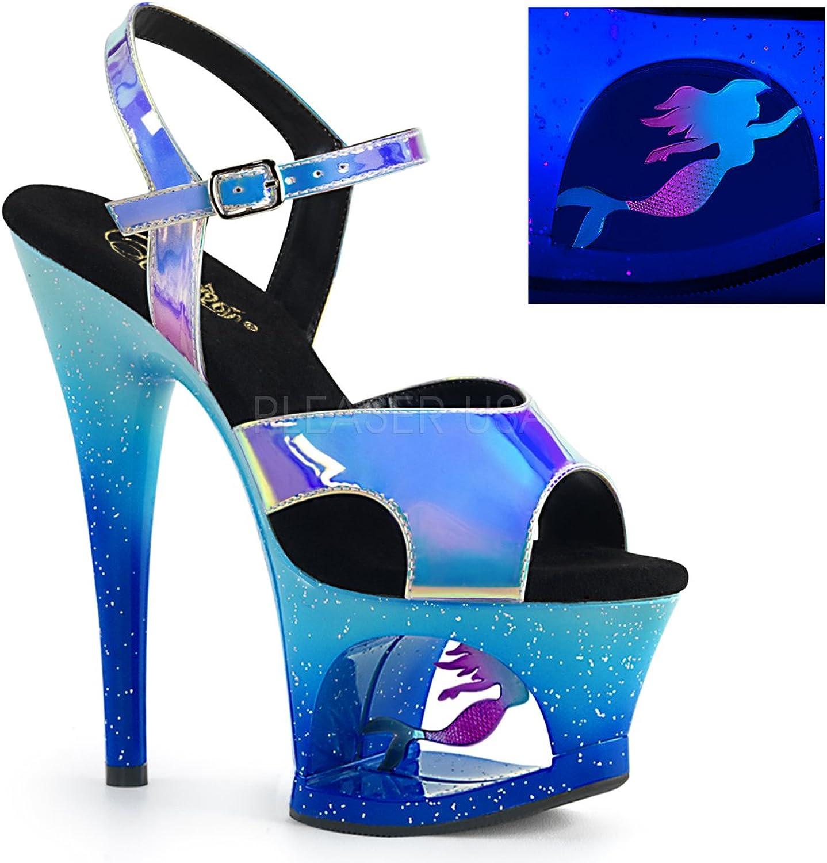Pleaser Womens MOON-711MER blue M Sandals