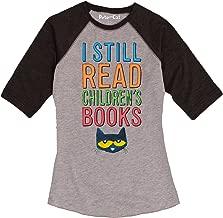 Pete the Cat I Still Read Books - Ladies Raglan