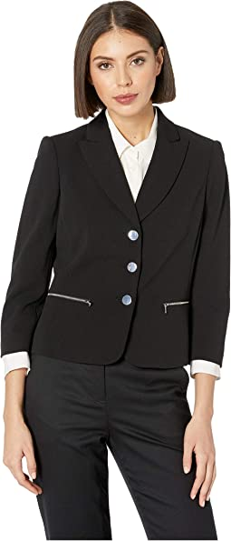 Three-Button Zip Pocket Jacket