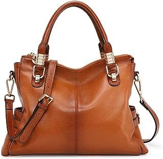 Women's Genuine Leather Purses and Handbags, Satchel Tote Shoulder Bag