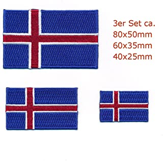 30/x 20/mm Island Ice Pays Reykjavik Europe Drapeau Flag /Écusson thermocollant 0965/Mini