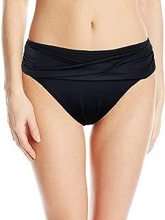 Women's Full Coverage Black Bikini Bottom Hipster Swim Brief