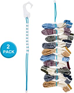 NewBeau 2 Pack Sock Organizer for Laundry, Washing & Drying Storage Sock Laundry Helper, Sock Storage Hangers or Dividers for Laundry, Dryer, Closet