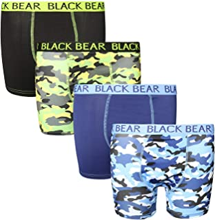 Black Bear Boys' Performance Dry-Fit Compression Boxer Brief (4 Pack)