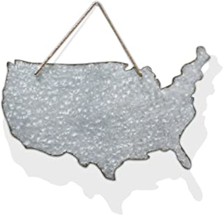 Barnyard Designs Galvanized Patriotic America Cut Out Silhouette Rustic Magnetic Wall Decor Farm Country Inspired 28
