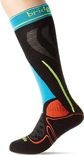 Bridgedale, Ski Junior Racer Calcetines, Unisex Adulto, Negro/Multi, Talla Única