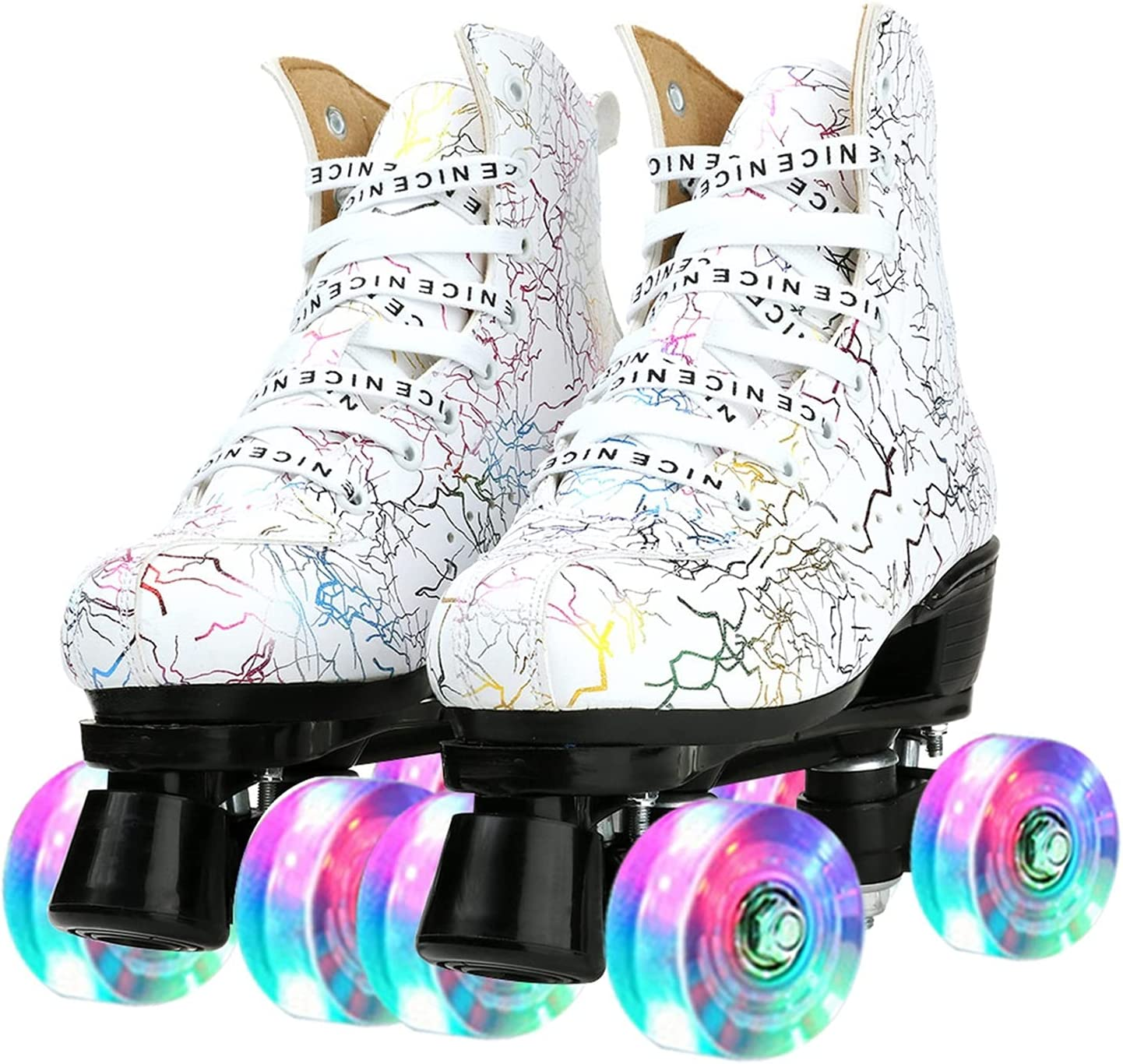Women's Roller Skates PU Max 78% OFF Max 57% OFF Leather High-top Four-Wh
