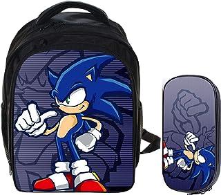 Mochila Sonic 13 pulgadas 2 unids/lote Sonic Boom the Hedgehog Mario Bros Mochilas escolares para niños Mochila para niños Mochila de dibujos animados para niños Juegos de bolsas de lápices