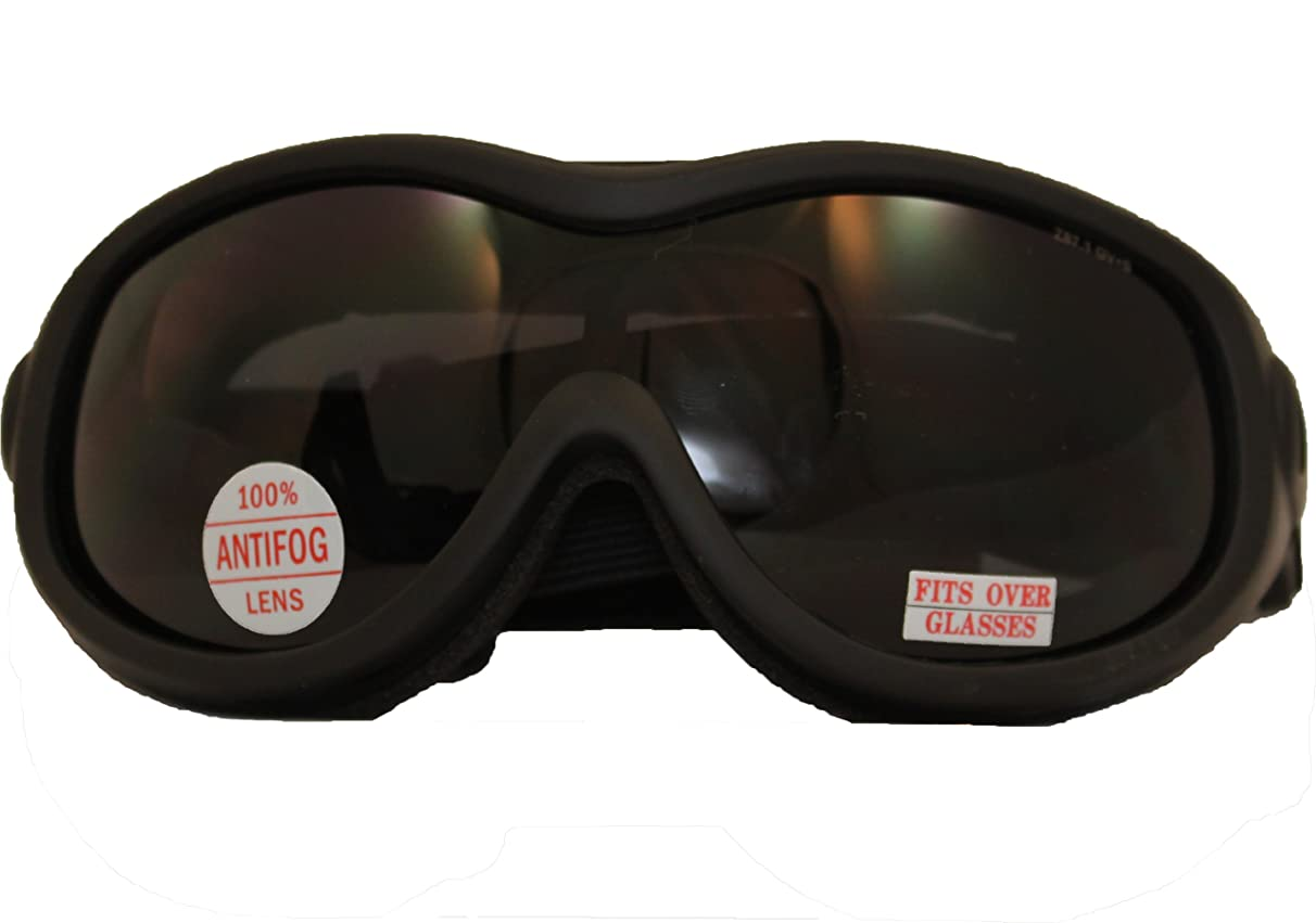 Tactical Over Glasses Goggles ANSI Z87.1 Antifog Open Cell Foam Smoke