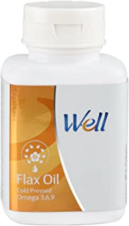 Modicare Well Cold Pressed Extra Virgin Flax-seed Oil 90 softgels Vegan Capsules 500mg pack of 3