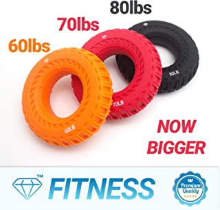 Diamond Finger Stretcher & Hand Grip Strengthener - 10, 6 or 2 Pack - Strengthens Fingers, Hands, Wrists and Forearms - Best for Climbing, Golf & Tennis Grip Power, Hand Therapy