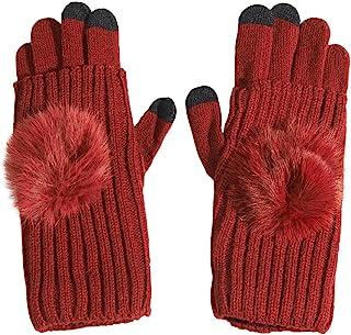 Stretchy Touchscreen Gloves Knit Typing Fingerless Wrist Warmer Women's