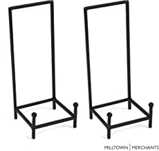 Milltown Merchants&Trade; Metal Display Stand - Plate Stand/Plate Holder - Black Metal Plate Stand - Portable Display Rack for Trade Shows, Office, or Home (2 Pack, Large Chair Stand)