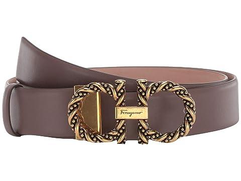 Salvatore Ferragamo New Gancini Twisted Adjustable Belt