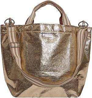 brasi&brasi Shopper Shop&Stripe Glitter Zip Gold NEU!!
