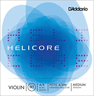 D'Addario Helicore 4/4 Size Violin Strings 4/4 Size Set with Steel E String
