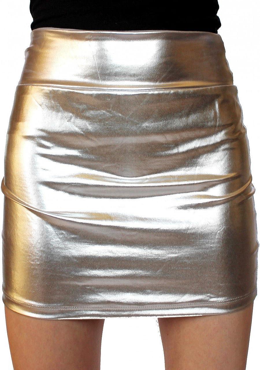 SuperModelGear Women's Metallic Mini Skirt