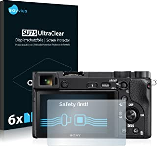 savvies Protector Pantalla Compatible con Sony Alpha 6300 (6 Unidades) Pelicula Ultra Transparente